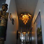 Vacker korridor och kokoslampa!